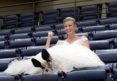 Mariée de stade de base-ball Images stock