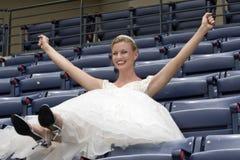 Mariée de stade de base-ball Images libres de droits