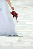 Mariée et bouquet Photographie stock