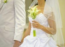 Mariée et fiancé Image stock