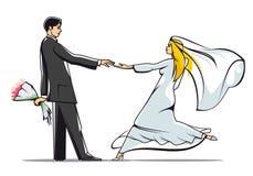 Mariée et marié illustration de vecteur