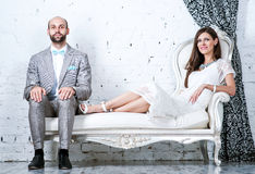 Mariée et marié Image libre de droits