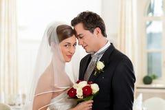 Mariée et marié au jour du mariage Photographie stock libre de droits