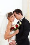 Mariée et marié au jour du mariage Image stock