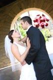 Mariée et marié au mariage Images stock