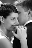Mariée et marié dans l'amour Photo stock