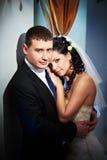 Mariée et marié de charme Image stock