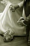Mariée et marié de prière Images stock