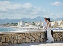 Mariée et marié en jour du mariage Image stock