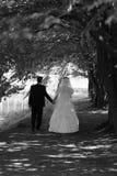 Mariée et marié en stationnement Images stock