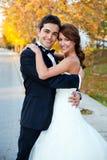 Mariée et marié heureux Photo libre de droits