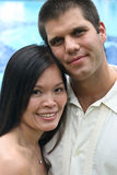 Mariée et marié heureux Images libres de droits