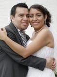 Mariée et marié hispaniques attirants Image libre de droits