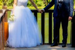 Mariée et marié le jour du mariage Images libres de droits