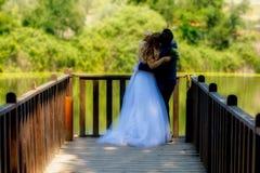 Mariée et marié le jour du mariage Images stock