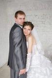 Mariée et marié le jour du mariage Image stock