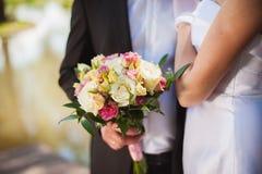 Mariée et marié le jour du mariage Photo libre de droits