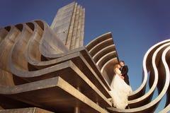 Mariée et marié leur jour du mariage Photos stock