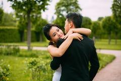 Mariée et marié leur jour du mariage Images libres de droits