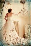 Mariée grunge dans le blanc dans romain Photo libre de droits