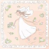 Mariée heureuse illustration stock