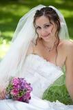 Mariée heureuse Images libres de droits