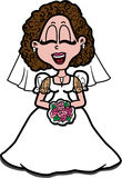 Mariée heureuse Image stock