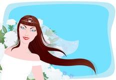 Mariée heureuse Illustration Libre de Droits