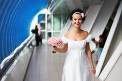Mariée joyeuse Photo libre de droits