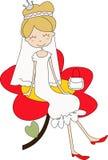 Mariée ou princesse Image stock