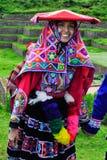 Mariée péruvienne traditionnelle Images libres de droits