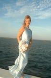 Mariée par la mer image stock
