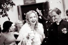 Mariée riante Photo libre de droits