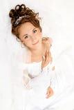 Mariée sur le blanc Images libres de droits
