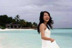 Mariée sur le bord de la mer Photo libre de droits