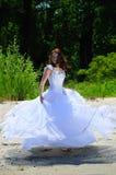 Mariée sur une plage Photos stock