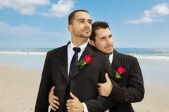 Mariés homosexuels Photographie stock libre de droits