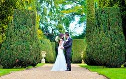 Mari et épouse au palais Photos stock