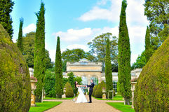 Mari et épouse au palais Image libre de droits