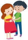 Mari et épouse enceinte illustration de vecteur