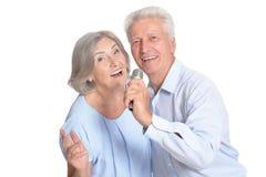 Mari et épouse supérieurs de couples Image stock