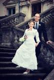 Marié et jeune mariée Photo stock