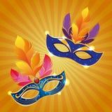 Mari gras masks vector illustration