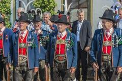 Maria Ascension procession Oberperfuss, Österrike Royaltyfri Fotografi