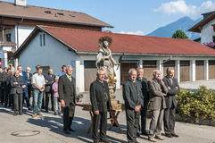 Maria Ascension procession Oberperfuss, Austria. Stock Images