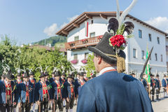 Maria Ascension procession Oberperfuss, Austria. Stock Photos