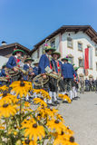 Maria Ascension procession Oberperfuss, Austria. Stock Image