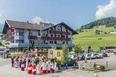 Maria Ascension procession Oberperfuss, Austria. Royalty Free Stock Image
