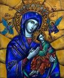 Maria avec Jésus et la mosaïque d'anges Photo stock