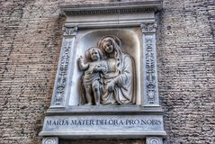 Maria and the baby. The Vatican Stock Photography